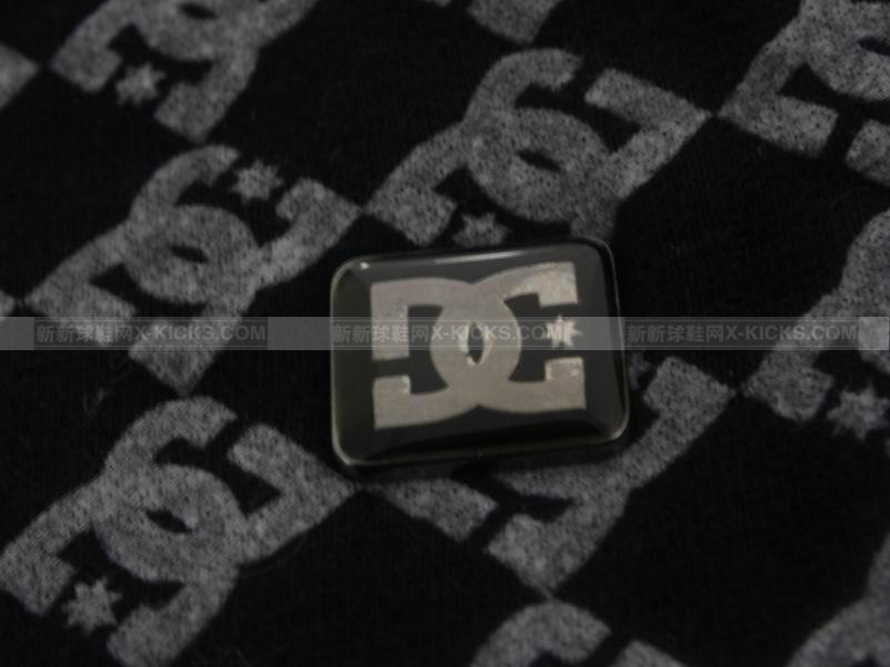 DC shoes logo 黑灰拉链帽衫