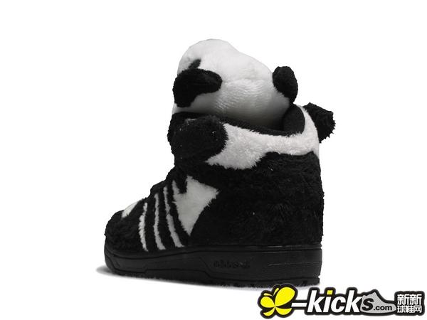 ADI ObyO × Jeremy Scott JS Panda Bear little kids 熊猫儿童鞋 亲子款清仓特价