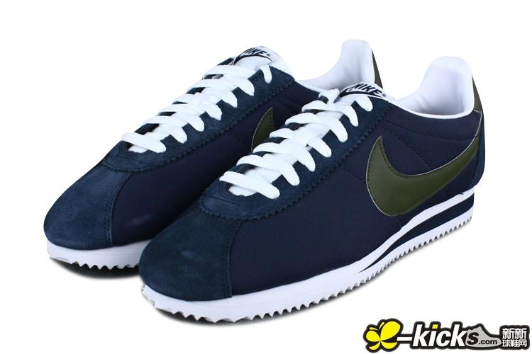 Nike Classic Cortez Nylon 阿甘鞋 深蓝 特价 CORTEZ 阿甘系列 NIKE跑