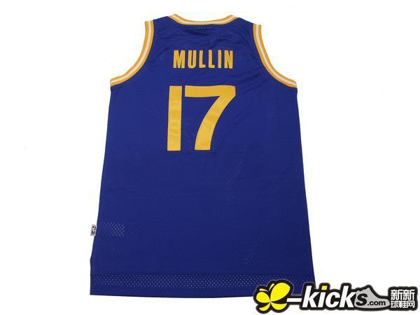 NBA复古球衣金州勇士队17号 穆林Chris Mullin 刺球球衣