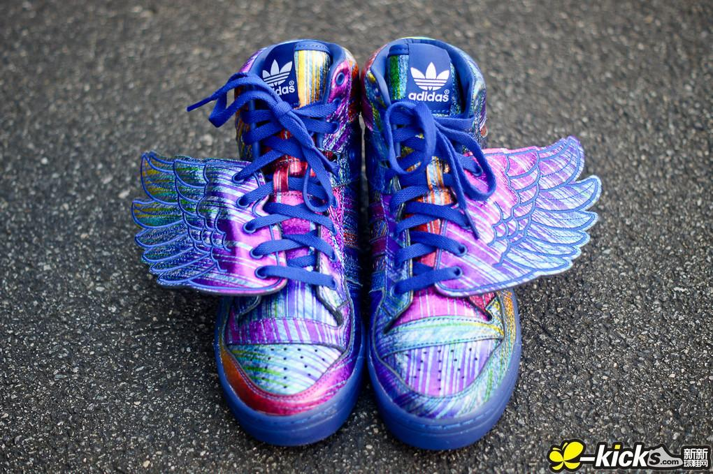 adi Originals JS Wings Synthetic Rubber 彩虹翅膀 情侣款