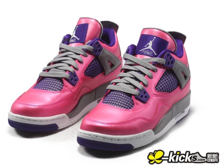 Air Jordan 4 Retro GS 亮粉紫 特价