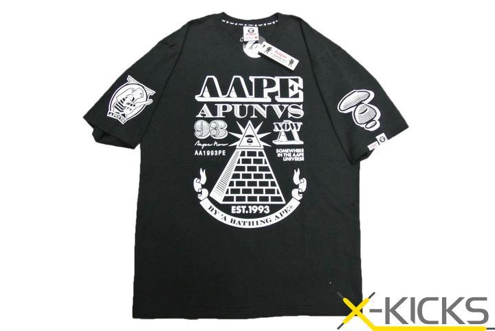 aape 金字塔 logo tee 黑色_短袖_潮流服饰_服饰配件
