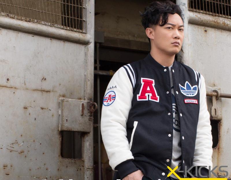 陈奕迅代言  adidas Adventure三叶草加厚棒球服