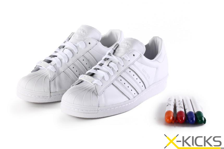 adidas Originals Superstar 80s by Gonz Mark Gonzales 艺术家联名 清仓特价