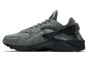 "Nike Air Huarache RUN TP ""Tech Fleece"" 黑灰特价"