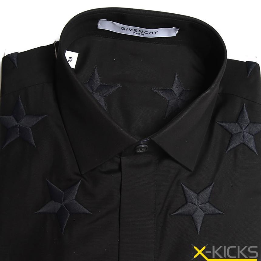 刺绣星星修身衬衫