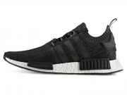 Adidas NMD R1 Primeknit Winter Wool 黑白 特价