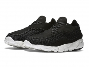 Nike Air Footscape Woven 黑白黄亚麻 潮流跑鞋
