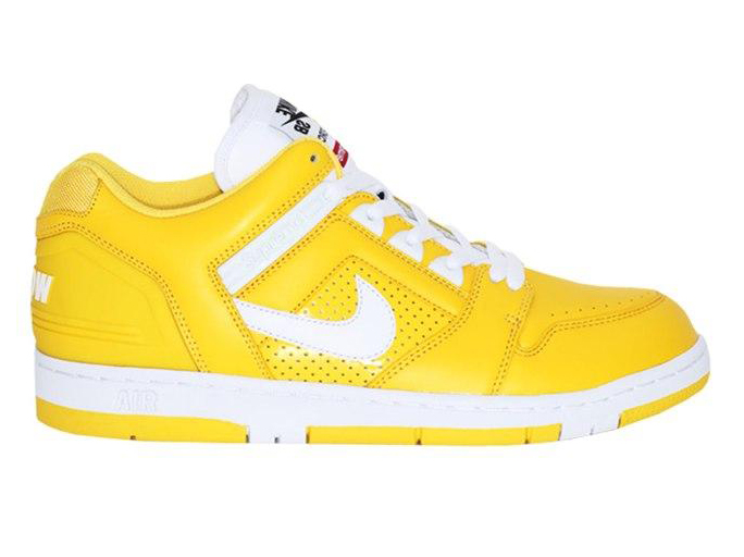 SUPREME NIKE AIR FORCE 2 SB 联名篮球鞋 黄色