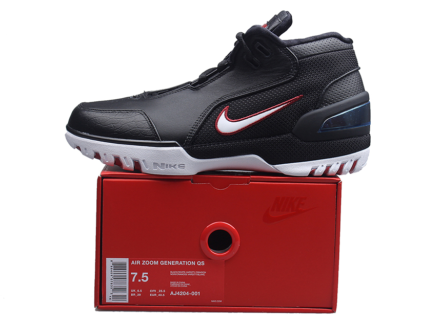 Nike Air Zoom generation 詹姆斯1 LBJ1 全明星 黑白红