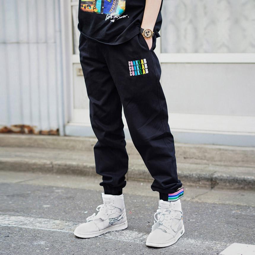 街舞运动裤男