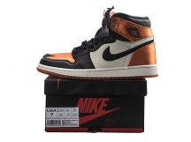 Air Jordan 1 Satin Backboard AJ1 黑橙丝绸扣碎篮板