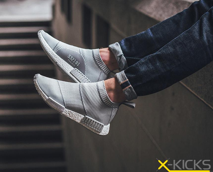 预售 Adidas NMD City Sock PK NMD 高帮 编制 酷灰 特价