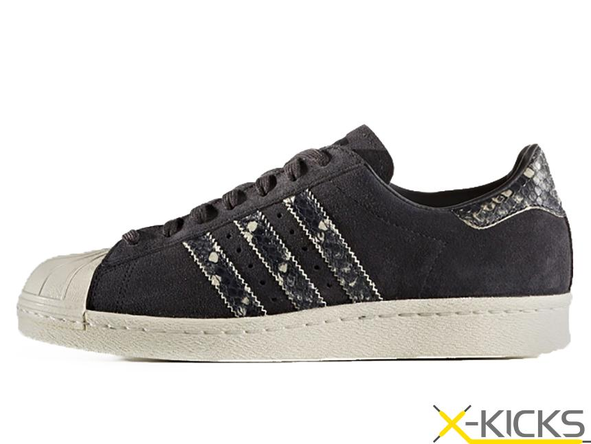 Adidas Originals 三叶草 SUPERSTAR 80S W 蛇纹贝壳头特价