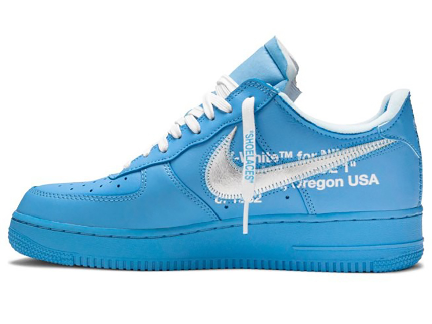 Nike Air Force 1 x OW联名 AF1北卡蓝 银钩