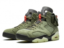 Air Jordan 6 x Travis Scott AJ6 TS军绿鬼脸